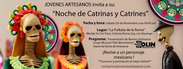Fiesta de catrinas y catrines