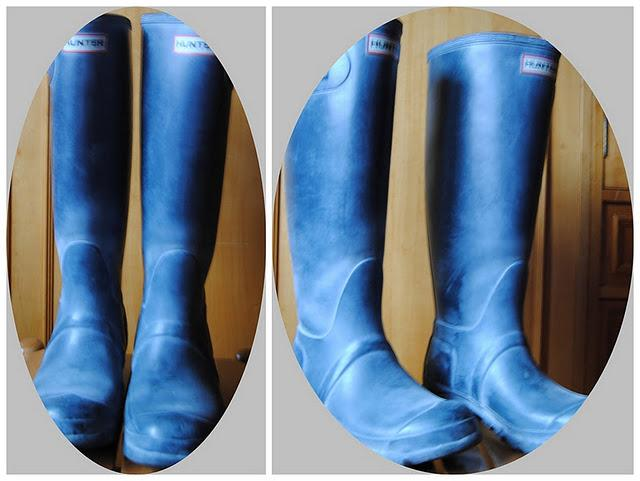 how to clean hunter boots yellowing