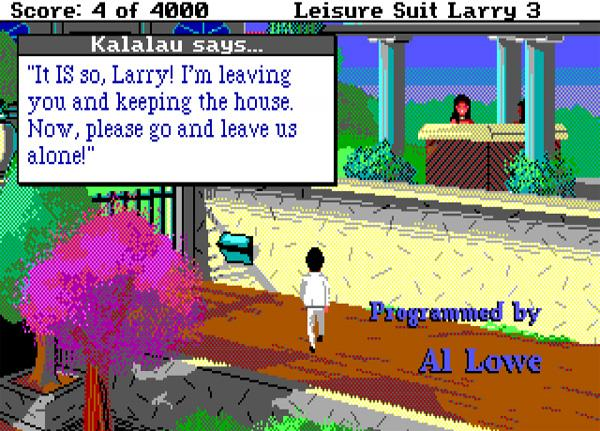 larry 3 La saga Leisure Suit Larry (primera parte)