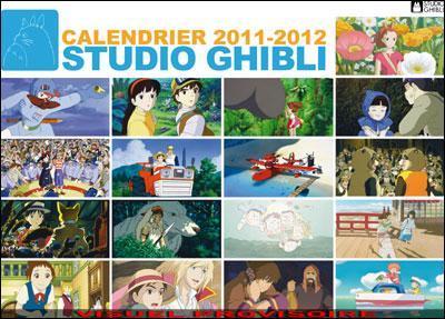 Calendario Ghibli 2012 en Francia