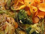 Pollo Brandy Miel Verduras