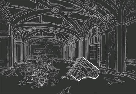Moisés Mahiques y sus dibujos a ciegas: 'Double-blind'