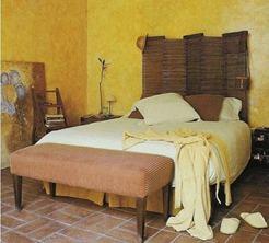 Hacer un cabecero con un biombo paperblog - Como hacer un cabecero de cama economico ...
