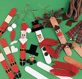 Adornos de navidad hechos con palos de polos Paperblog