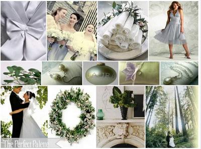 ideas para bodas de invierno en verde