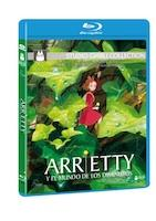 Ediciones de Arrietty en DVD y Bluray