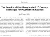 Desafíos para Educación Psiquiatría siglo Joel Yager