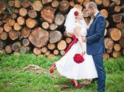 boda color rojo