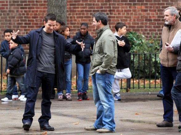 Catherine Zeta-Jones y Mark Wahlberg en el set de Broken City