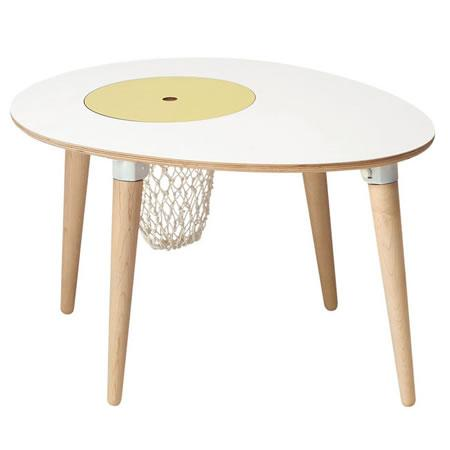 Egg Table, mesa infantil con cesta para juguetes incluida