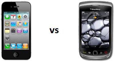 iPhone vs Blackberry en el mundo empresarial