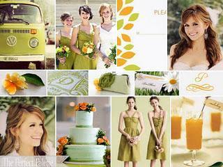 Ideas para la decoración de una boda de otoño: naranja