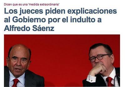 Un indulto cuestionado: Los jueces piden explicaciones al Gobierno por el indulto a Saénz.