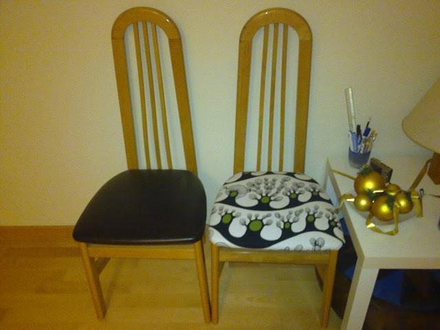 Antes y después: la silla de raquel tapizada con tela de ikea ...