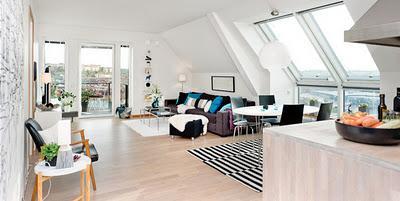 Apartamento minimalista en buhardilla paperblog for Decoracion apartamento pequeno estilo minimalista