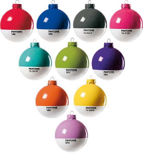 bolas de navidad pantone
