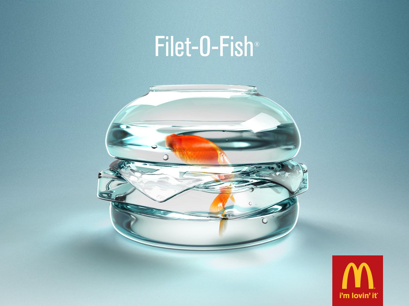 20 anuncios creativos minimalistas paperblog for Filet o fish mcdonalds