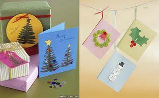 Dos postales de navidad caseras paperblog - Hacer una postal de navidad ...