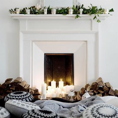 Decorar la chimenea en navidad paperblog - Decoracion para chimeneas de lena ...