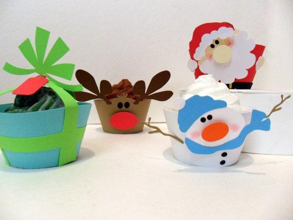 Decoracion De Navidad Para Ni?os ~ Envolturas navide?as para tus Cupcakes!  Paperblog