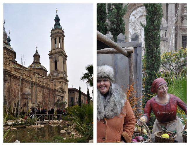 La Basílica del Pilar y su Belén son espectaculares.