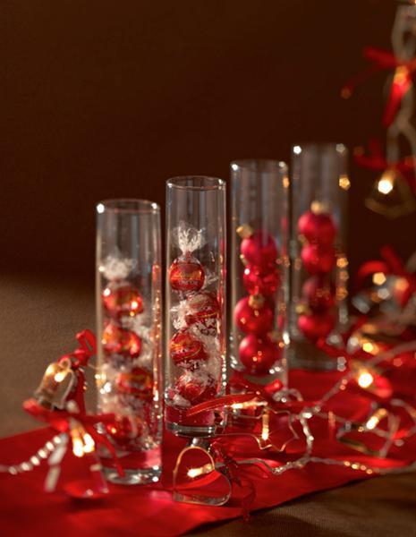 decorar la mesa de navidad con bombones
