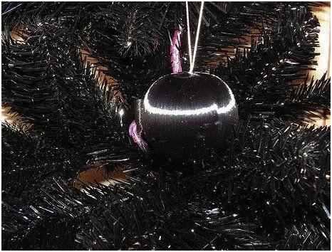 abeto navideño color negro