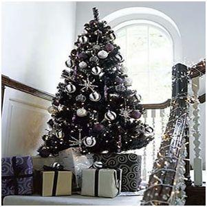 abeto navideño negro