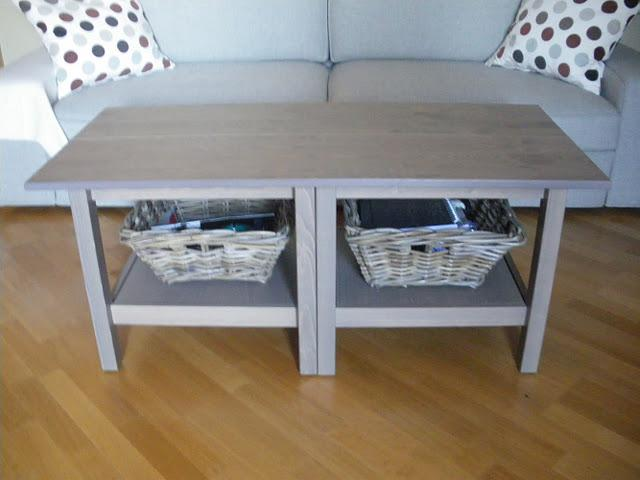 Ikea hack la mesa de centro hemnes con baldas ekby como for Ikea mesas salon centro