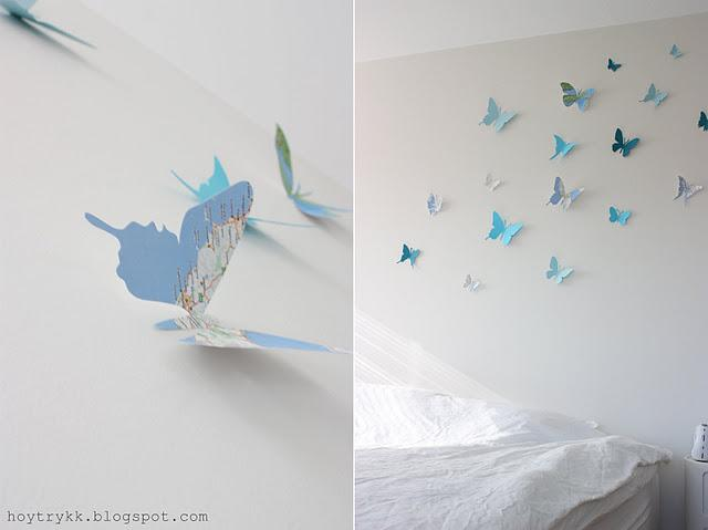 Decora tu pared con mariposas y mapas decorar tu casa - Placas para decorar paredes ...