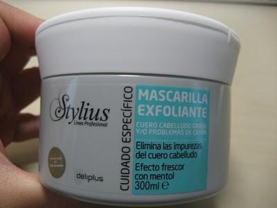 Mascarilla exfoliante para el cuero cabelludo