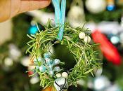 Adornos Navidad: Mini corona romero