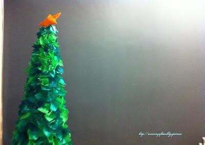 Tutorial rbol de navidad de alambre y papel paperblog - Como hacer un arbol de navidad de papel ...