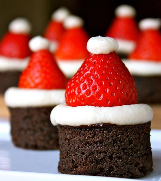 decoracion mesa navidad fresas
