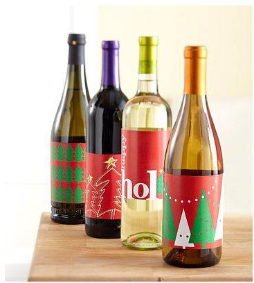 decorar las botellas de la mesa de navidad