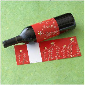 etiquetas navidad para botellas