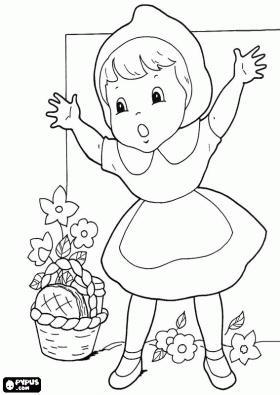 Caperucita Roja Para Colorear Paperblog