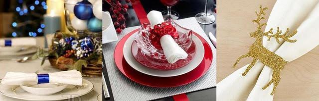 mesa elegante navidad servilleta blanca azul mesa navidad nochebuena decoracion