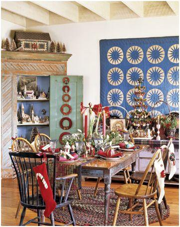decorar sillas de mesa en navidad