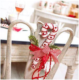 decorar sillas navidad