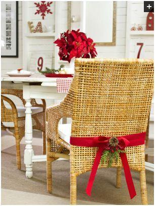 inspiracion para decorar sillas en navidad