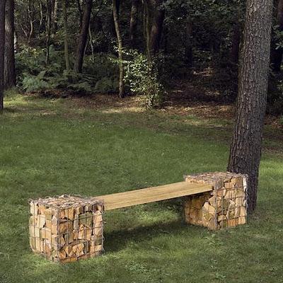 Muebles de jard n con troncos y piedras paperblog - Muebles de piedra para jardin ...