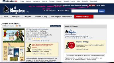 JR participa en los Premios 20 Blogs, un minitutorial por si queréis votarnos ;)