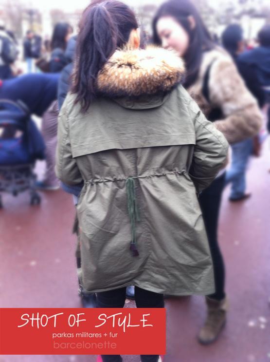 Shot of Style 1: Parkas militares con cuello de fur