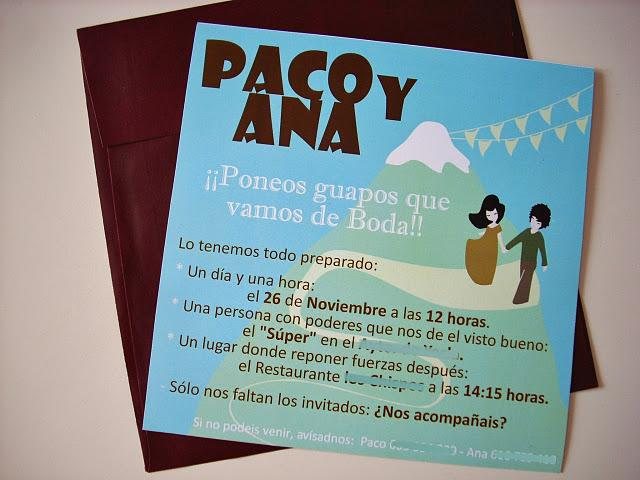 Las etiquetas e invitaciones personalidazas de Vitamina*d para Paco y Ana