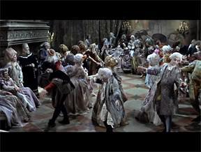 Escena del baile de los vampiros en el salón