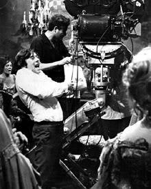 Polanski durante el rodaje de La Danza de los Vampiros