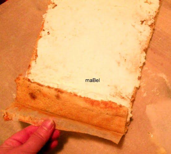 Brazo gitano de tiramisu -Arrollado dulce