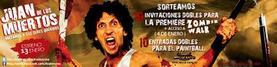 Concurso 10 entradas dobles premiere Juan de los Muertos + Zombie Walk y 10 entradas dobles Paintball MegaCampo
