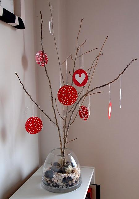 Diy Decoracion Navidad ~ Diy Navidad El mini ?rbol de Navidad de Sonia con ramas, cristales